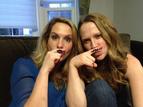 Sisters mustaches